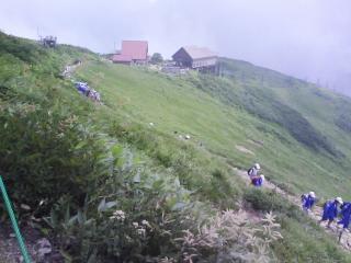 登山歩行開始