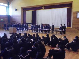 平成20年度第3回生徒総会です!