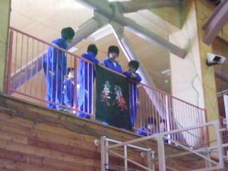学級旗も応援!