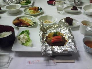 二日目の夕食ですっ!